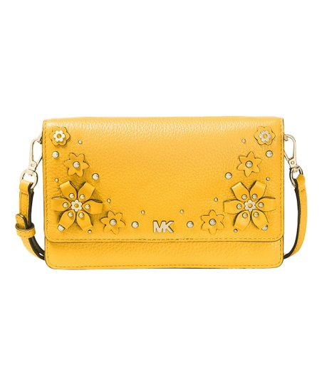 5ffdb57fcfe7 love this product Sunflower Floral Embellished Pebbled Leather Convertible  Crossbody Bag