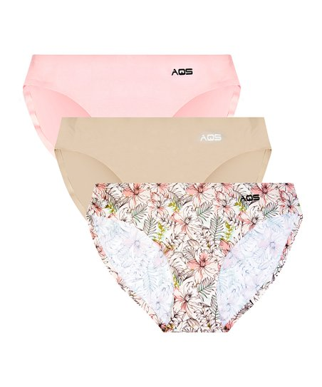 ded08bb37fdc1 love this product Nude   Pink Flower Three-Pair Seamless Bikini Set - Women