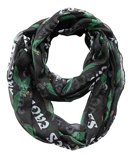 hot sale online faa66 c1b5c Little Earth Philadelphia Eagles Black Retro Logo Sheer ...