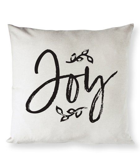 The Cotton And Canvas Company Black Natural Joy Throw Pillow Cover