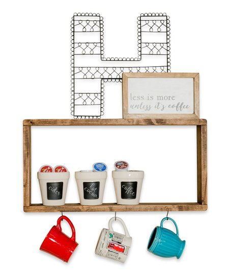 Coffee Bar Shelf Mug Hooks
