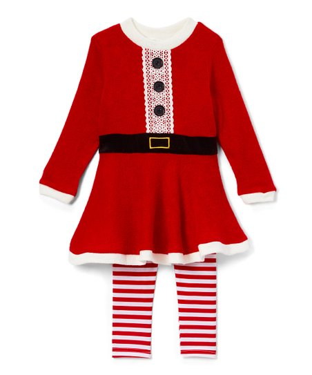 Toddler Dress with Red Sweater Leggings