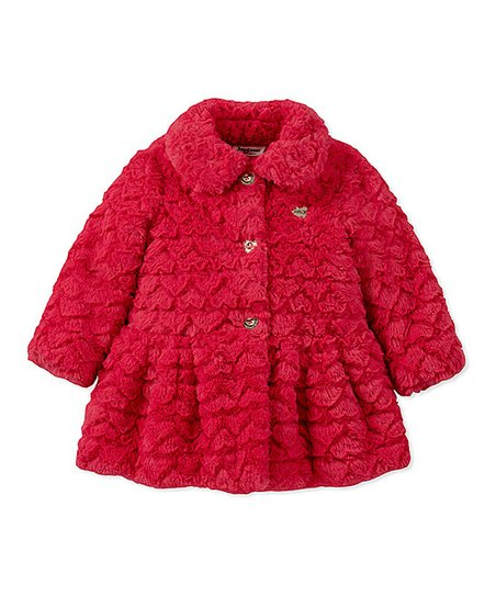510e1e8ab303 love this product Hot Pink Button-Up Faux Fur Jacket - Infant, Toddler &  Girls