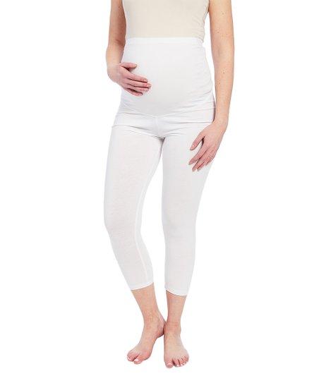 868c88d27b6c3 love this product Over-Belly White Maternity Capri Leggings