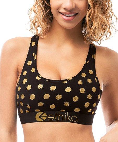 4e678ac6c2 Ethika Black Gold Member Sports Bra