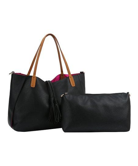 c6c58be5a941 Handbag Republic Black Rope-Tassel Reversible Hobo   Pouch