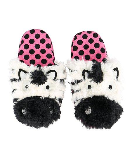 0fb7c64a6 love this product Black   White Zebra Slipper - Girls