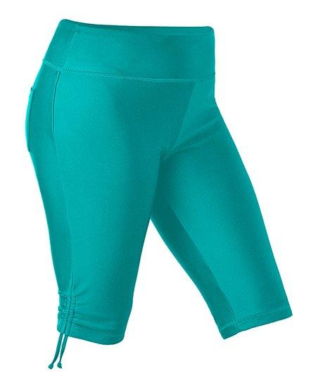 uv skinz teal swim jammerz shorts women plus zulily