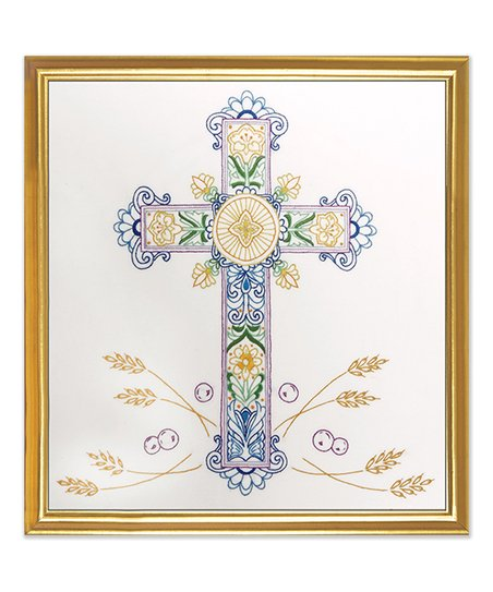 Design Works Ornate Cross Stamped Embroidery Kit
