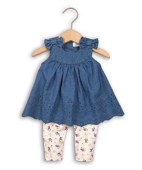 d708f36eb7 Minoti Chambray Top & Floral Legging Set - Infant