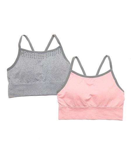 b76c386d7d love this product Gray Seamless Sports Bra - Set of Two