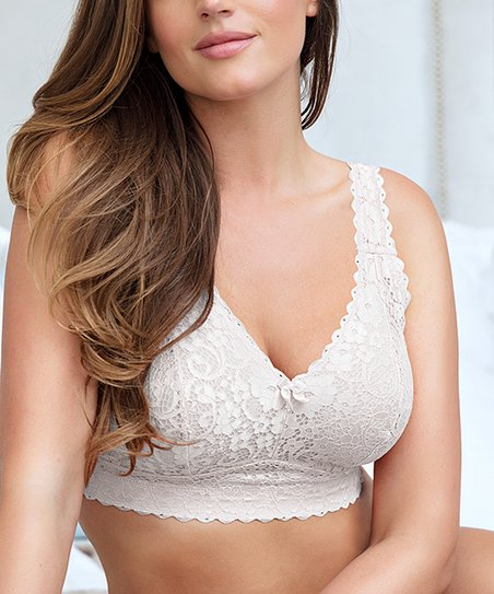 973f4641146 love this product Pearl White Lace Adriana Bralette - Plus Too