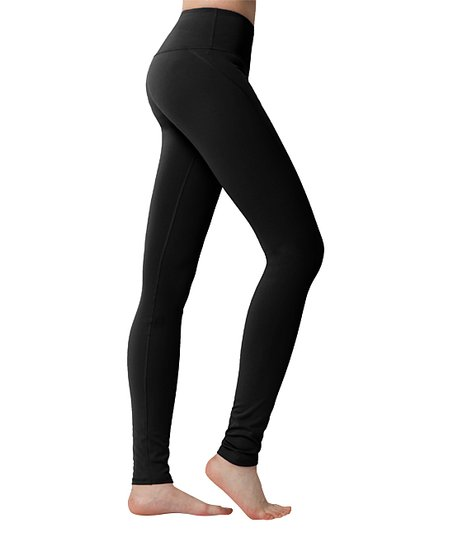 8c9fd42600 Yoga Ruru Black Hidden-Pocket Leggings - Women | Zulily