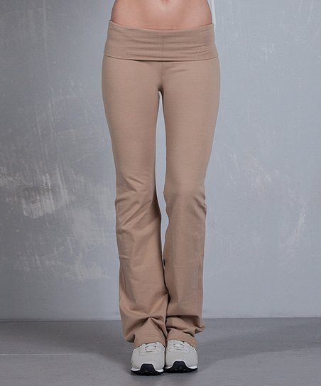 ae43f81252853 Forever Lily Taupe Yoga Pants - Women | Zulily