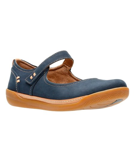 072aa82f love this product Navy Un Haven Strap Nubuck Mary Jane - Women