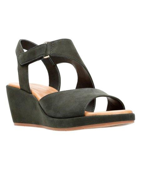 3c8a6bd7ba32 Clarks Black Un Plaza Sling Leather Sandal - Women