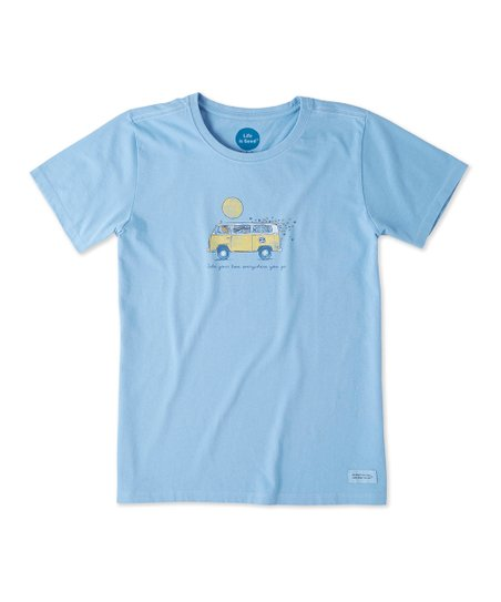 Details about  /NWT Women/'s LIFE IS GOOD CRUSHER TEE SHIRT TAKE YOUR LOVE EVERYWHERE YOU GO Blue