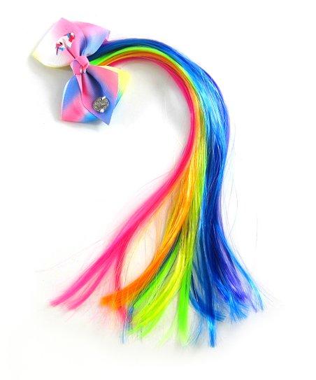 H E R  Accessories JoJo Siwa Pink, Green & Blue Unicorn Bow & Colored-Hair  Clip