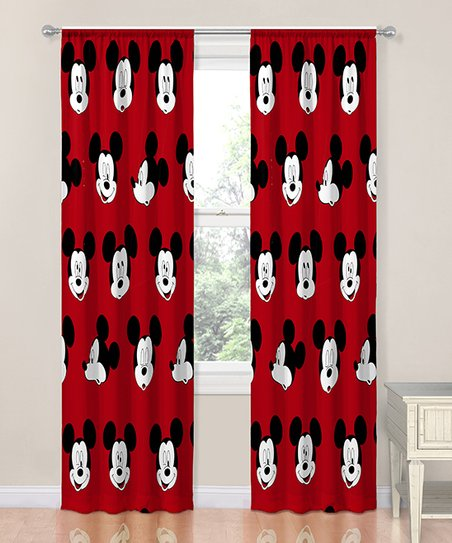 Jay Franco and Sons Mickey Mouse Cute Faces 84\'\' Curtain Panel - Set of Two