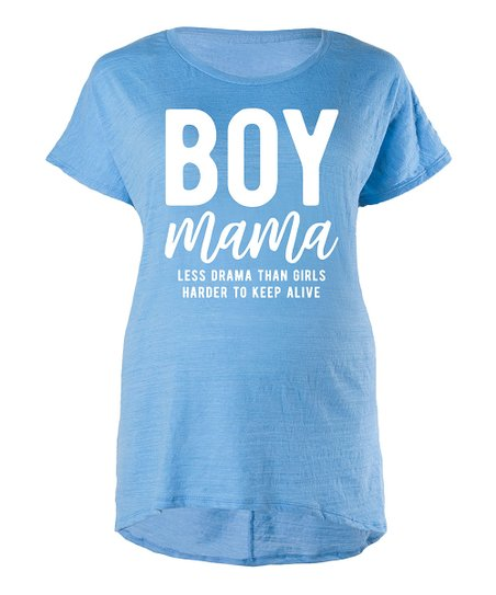 4940d5cc love this product Triblend Azure 'Boy Mama' Maternity Relaxed-Fit Tee