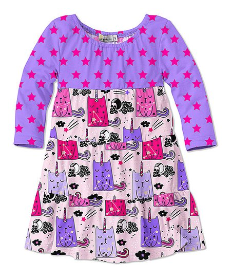 1b6ac02eecd2 love this product Purple   Light Pink Caticorn Color Block T-Shirt Dress -  Infant