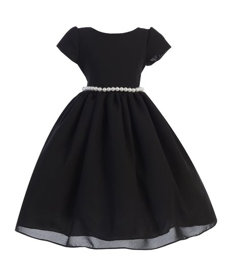 Ellie Kids Black Wool Dobby Pearl Fit Flare Dress Toddler Zulily