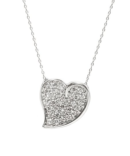 cb854b115d8 love this product Sterling Silver Filled Heart Pendant Necklace With  Swarovski® Crystals