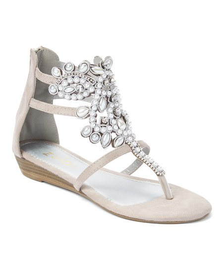 1c4362414bd Zula Shoes Gray Rhinestone Gladiator Sandal - Women