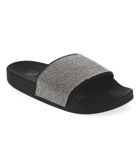 e4eeb5dcbe86 N Demand Black Glitter Marie Slide - Women