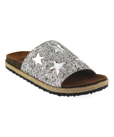 4e2da92ccf98 love this product Silver Astra Glitter Slide - Women