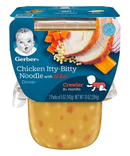 Gerber Two Ct Lil Bits Chicken Itty Bitty Noodle Dinner Baby Food