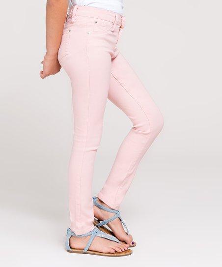 6826ea63d6179 YMI Jeans Cream Puff Pink Hyper-Stretch Skinny Jeans - Girls | Zulily