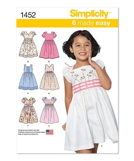 Simplicity Patterns 1452 Dress Sewing Pattern - Girls   zulily