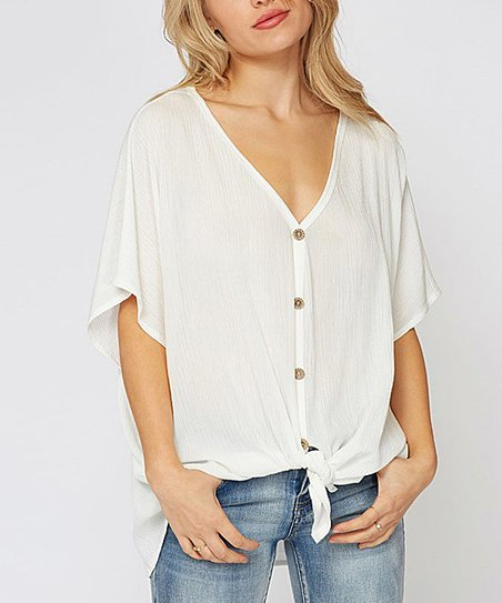 7d7d5c512 love this product White Sheer Button-Up - Women