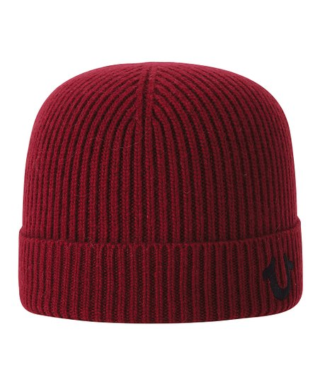 True Religion Red Rib-Knit Watch Cap  4004ac39e9e3