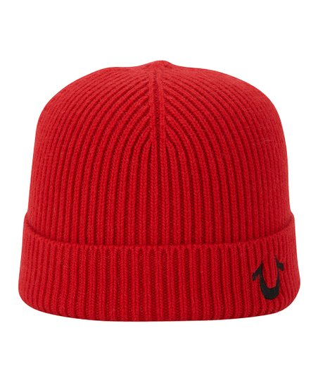 love this product Red Rib-Knit Watch Cap 0d74e76a471b