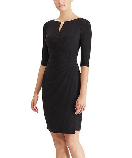 0e52b120 Lauren Ralph Lauren Black Kelby Sheath Dress - Petite | Zulily