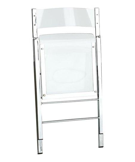 Excellent Wisteria Lucent Folding Chair Zulily Machost Co Dining Chair Design Ideas Machostcouk