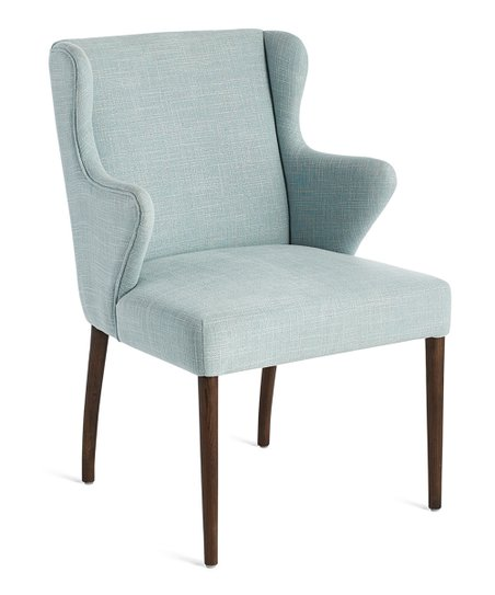 Wisteria Light Blue U0026 Oak Wingback Side Chair