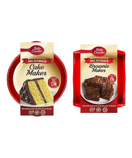 Rapid Brands Betty Crocker Brownie Cake Microwave Cooker Set Best Price And Reviews Zulily