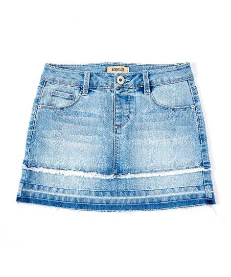 Squeeze Trey Wash Frayed Hem Denim Skirt Girls Zulily
