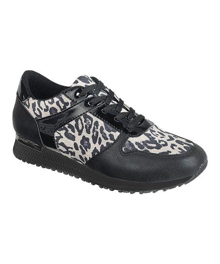 8bdc09a83dce love this product Black Leopard Bingo Sneaker - Women