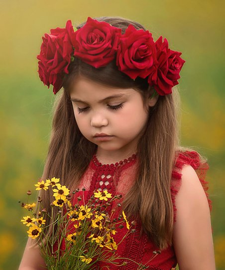 Trish Scully Child Red Rose Headband  6c6fff31658
