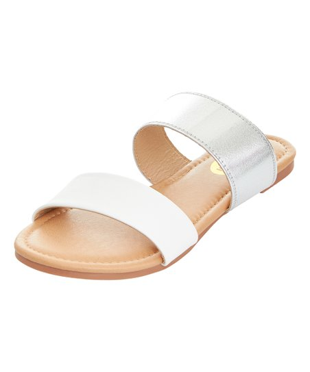 7db04f08e love this product White Two-Strap Sandal - Women