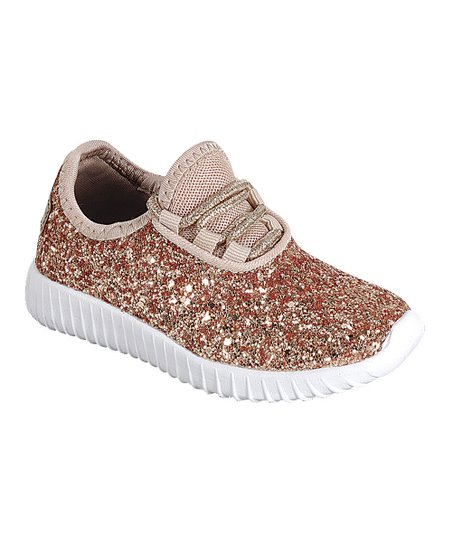 fe337a661093 love this product Rose Gold Glitter Remy Sneaker - Girls