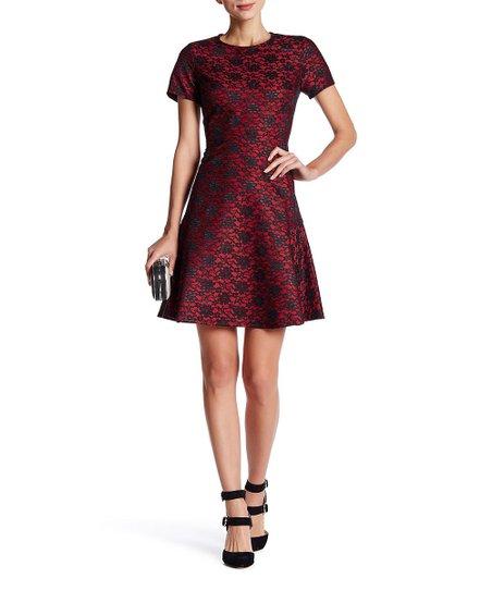 3e45877f9e5cd Betsey Johnson® Red Floral Lace Sheath Dress - Women | Zulily