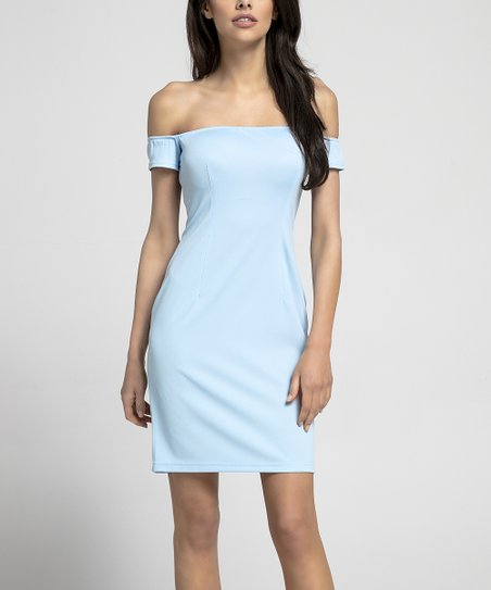 f950ab1bde1b Nommo Light Blue Off-Shoulder Bodycon Dress - Women