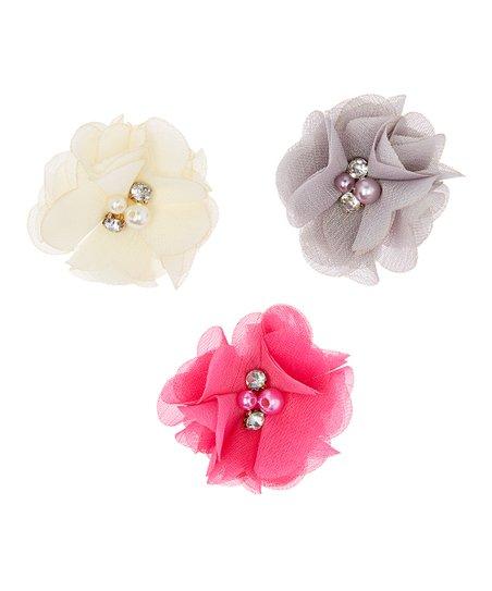 36116c041b153 Olivia Rae Ivory   Silver Imitation Pearl   Rhinestone Flower Hair ...