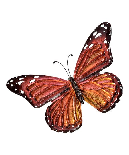 love this product Orange   Black Iron Butterfly Wall Décor ef0b29007