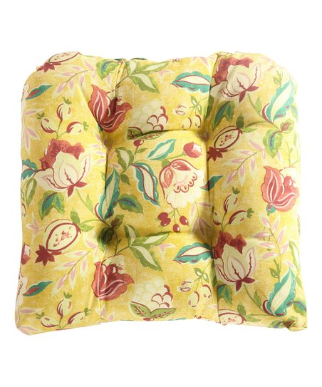 Yellow Fl Lexie Outdoor Dining Chair Cushion